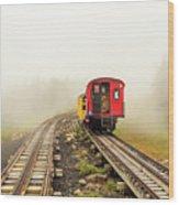 Railway To The Summit Wood Print