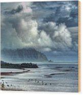 Rain Clearing Kaneohe Bay Wood Print