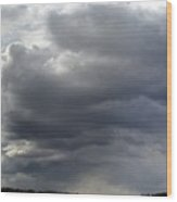 Rain Cloud Near Miss Wood Print