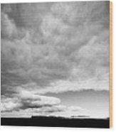 Rain Clouds And Weather Front Move Over Ring Road Hringvegur Across The Skeidararsandur Wood Print