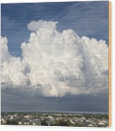Rain Clouds Over Lake Apopka Wood Print