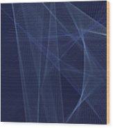 Rain Computer Graphic Line Pattern Wood Print