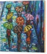 Rain Fantasy Acrylic Painting  Wood Print