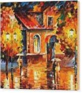 Rain Impression Wood Print