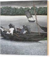 Rain In Bangladesh- An Acrylic Painting Wood Print