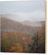Rain In Smokies Wood Print