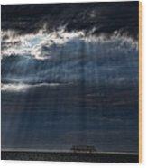 Rain Is Coming To Brighton Wood Print