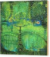 Rain Land II Wood Print