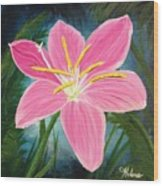 Rain Lily Wood Print