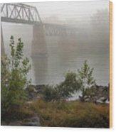 Rain N Fog Wood Print