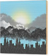 Rain On A Sunny Day Wood Print