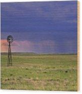 Rain On The Plains Wood Print