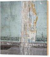 Rain Ruined Wall Wood Print