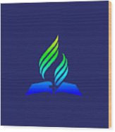 Rainbow 7th Day Adventist Symbol Wood Print