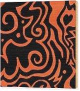 Rainbow Abstract 2 Of 6 Wood Print