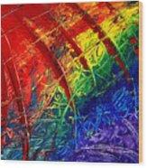 Rainbow Abstract Wood Print
