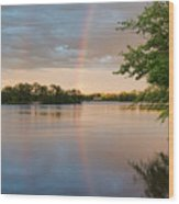 Rainbow After The Storm Wood Print