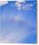 Rainbow Against A Beautiful Sky Wood Print