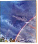 Rainbow And Scalar Waves IIi Wood Print