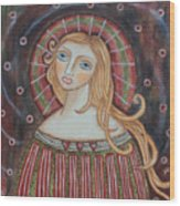 Rainbow Angel Wood Print