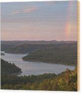 Rainbow At Broken Bow Lake Wood Print
