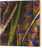 Rainbow Baleen Stack Wood Print