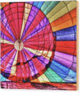Rainbow Balloon Wood Print