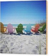 Rainbow Beach Vanilla Pop Wood Print