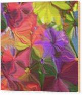 Rainbow Bouquet Wood Print