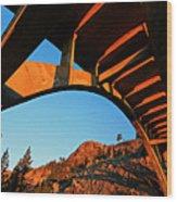 Rainbow Bridge Sunrise Wood Print