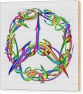 Rainbow Circle Wood Print