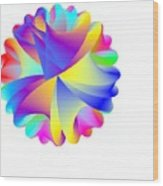 Rainbow Cluster Wood Print