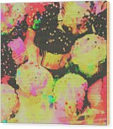 Rainbow Color Cupcakes Wood Print