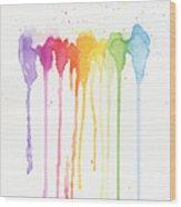 Rainbow Color Wood Print