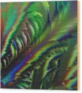 Rainbow Crystals Wood Print