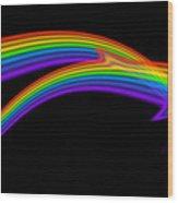 Rainbow Dolphin Wood Print