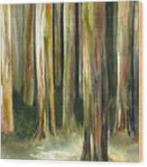 Rainbow Eucalyptus Forest Wood Print