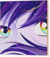 Rainbow Eyes Wood Print