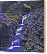 Rainbow Falls Watkins Glen State Park Wood Print