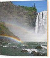 Rainbow Falls Wood Print