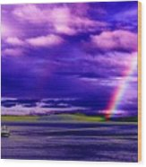 Rainbow Ferry Wood Print