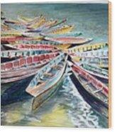 Rainbow Flotilla Wood Print