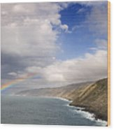 Rainbow From The Sea Wood Print