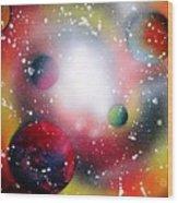 Rainbow Galaxy Wood Print