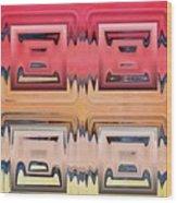Rainbow Glass Wood Print