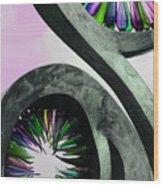 Rainbow Glass Magic Wood Print