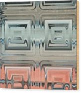 Rainbow Glass2 Wood Print