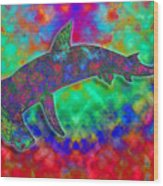 Rainbow Hammerhead Shark Wood Print
