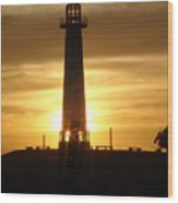 Rainbow Harbor Light House 2006 Wood Print