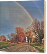 Rainbow Hdr Wood Print
